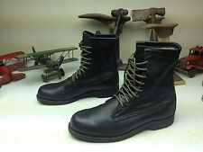 ADDISON CLASSIC BLACK LEATHER MILITARY ENGINEER PACKER WORK BOOTS SIZE 12.5 E