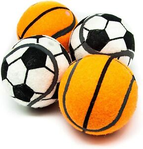 8cm Squeaky Tennis Basketball Football for Dogs High Bounce Interactive Dog Toys