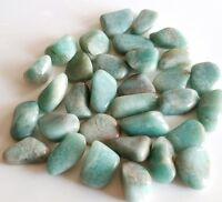 50-60 pcs Amazonite Tumbled 1/4 lb bulk stones