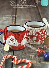 KNITTING PATTERN 2 Christmas Mug Hug Cosy Tree Snowflake Fair Isle Festive Tea