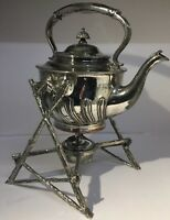 Antique Silver Plate On Copper Spirit Kettle & Stand Henry Wilkinson Sheffield