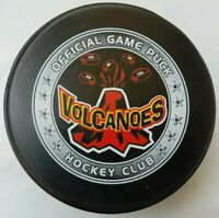 VOLCANOES HOCKEY CLUB OFFICIAL GAME PUCK MADE IN CANADA LINDSAY MFG.