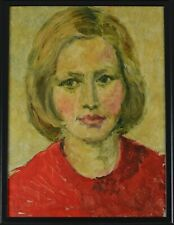 Late 20th Century Portrait Of A Lady Oil Painting