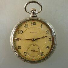 Uomo Orologio da tasca wolan/norbal Watch Argento 1910-PERFETTO (43742)