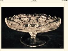 """Elegant Heisey """"Orchid"""" Etched 6 1/2"""" Low Footed Compote, a Beauty"""