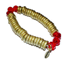 FIORELLI Costume Gold Plated Loops & Red Glass Link Bracelet (RRP £27.95)