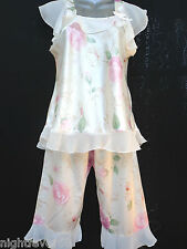 SATIN:PYJAMA GOWN NIGHTDRESS KIMONO £10.00  PYJAMA BOTTOM WITH TOP *PYJAMA SET*