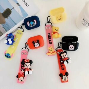 3D Cartoon For Apple Airpods Pro 2 1 Stich Mouse Silicone Case Ring Strap Toy