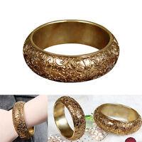 Women's Bracelet Lady Jewelry Gold Retro Court Style Cuff Bangle Gift