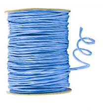 100 mètres cordon raphia laitonné bleu cobalt 2.5 mm mercerie loisirs créatifs