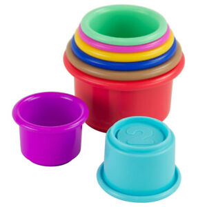 8pc Lamaze Pile & Play Cups Baby/Toddler Educational Plastic Stacking Toy 6m+