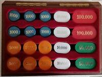 CONTENITORE in legno 200 gettoni madreperlati (5 colori)