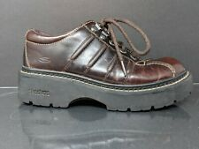Skechers 1213 Vintage 90's Brown Leather Chunky Sole Oxford Shoes Womens Size 7