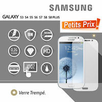 Vitre Protection d'écran VERRE Trempé Samsung Galaxy S3 S4 S5 S6 S7 S8 A3 J5 J7