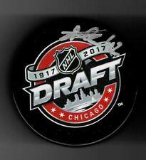 Alexandre Texier Signed Columbus Blue Jackets 2017 NHL Draft Puck