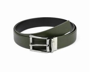 Emporio Armani Y4S071 YKL1J Cintura Reversible Leather Belt Khaki Black