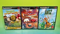 Antz Extreme Racing, Cars Mater, Shrek Racing PS2 PlayStation 2 Disney Game Lot