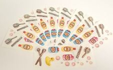 "Creative Memories Sticker Sheet Lot 10 Baby Bath Time Bubble Duckie  2"" x 5"""