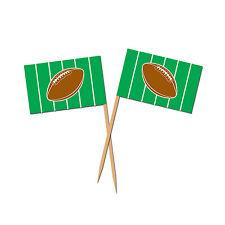 AMERICAN FOOTBALL SPORTS FLAG PICKS 50 CANAPÉ FOOD CUPCAKE FLAGS!