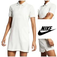 Nike Women's Golf Dri-fit Short Sleeve Polo Dress AJ5690-133 White Size Medium