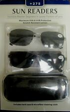 Icon Eyewear +275 Sun Readers Mens Reading Glasses 2 pack with Case