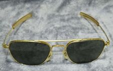 VINTAGE 52-20mm RANDOLPH ENG USA GOLD PLATED NAVAL PILOT AVIATOR SUNGLASSES