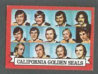 1973-74 OPC O-Pee-Chee Hockey California Golden Seals #95 Team Card *Dark Back*