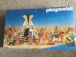 Playmobil 3733 - Indian Camp - Western - 1988 - in Box - Complete