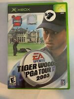 TIGER WOODS PGA TOUR 2003 - XBOX - COMPLETE W/ MANUAL - FREE S/H - (T8)