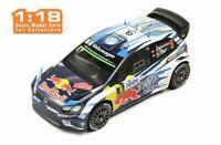 IXO 18RMC018C VW POLO R WRC rally car Mikkelsen Jaeger Tour de Corse 2016 1:18th