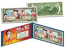 BETTY BOOP Genuine Legal Tender U.S. $2 Bill *OFFICIALLY LICENSED* with Holder