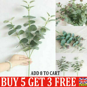 Artificial Eucalyptus Fake Leaf Green Plant Silk Flowers Indoor Home Decor QN