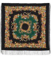Foulard Russe Châle Russe Pavlovo Possad en laine 125x125 cm par Gavrilova