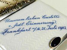G.A.S. Georg Adam Scheid Wien Jugendstil Silber Gold Email Etui ° Zigarettenetui