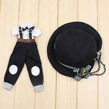 "Takara 12"" Blythe Doll Outfits -Suspender Trousers+White T-shirt+Hat Suits"