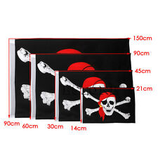 1Pc Large Skull Crossbones Pirate Flag Jolly Roger Hanging With Grommet New