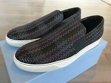 700$ Lanvin Dark Gray Leather with Nylon Woven Slip On size US 10