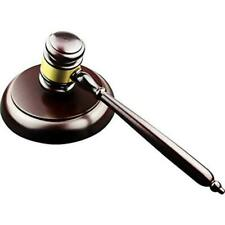 Apexstone Wooden Gavel and Block for Lawyer Judge Auction
