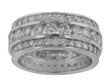 6.00 ct Round Cut Diamond Eternity Wedding Band Ring In Platinum G Color Vs2