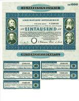 I.G.Farbenindustrie  Liquidation-Anteilschein  1.000 RM