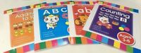 CHILDREN'S LEARNING - 4 X HOME WORKBOOKS SET,ABC,abc,Counting,AGE 3-6 FREE POST