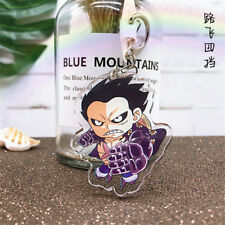 Japan Anime ONE PIECE Monkey·D·Luffy Acrylic Key Ring Pendant Keychain Gift