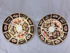 Early 20th Century Royal Crown Derby 2 saucers Imari pattern 2451