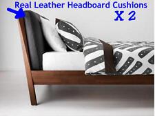 IKEA STOCKHOLM Brown Leather Headboard Cushions 70x72cm Brand New Sealed