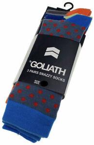 ST GOLIATH 3pk Circus Socks Snazzy Sox - Multi