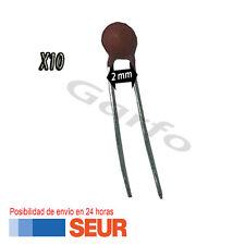 10X Condensador ceramico 220 pF 50V 2mm