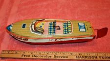 Vintage Hadson Japan Dreamland Tin Boat not working