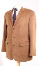 Bruno st hilaire en cuir synthétique marron de sport hommes veste 40R sèche-nettoyer