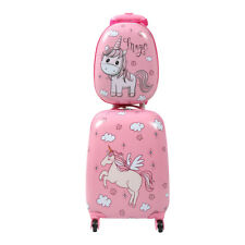 2Pc Carry On 12' 16'Kids Luggage Set Suitcase Backpack Travel School Trolley ABS