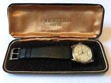 Vertex Revue Mens GentsVintage Wrist Watch 9ct 9k Gold - Original Box - Free P&P